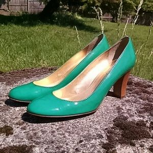 "Shoes - J Crew leather 2.5"" heel Made in Italy Size 9"
